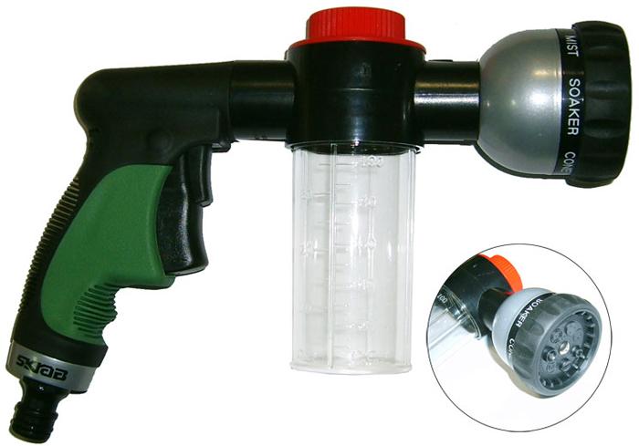 Садовый пистолет для полива Skrab, с диспенсером, 7 режимов цены