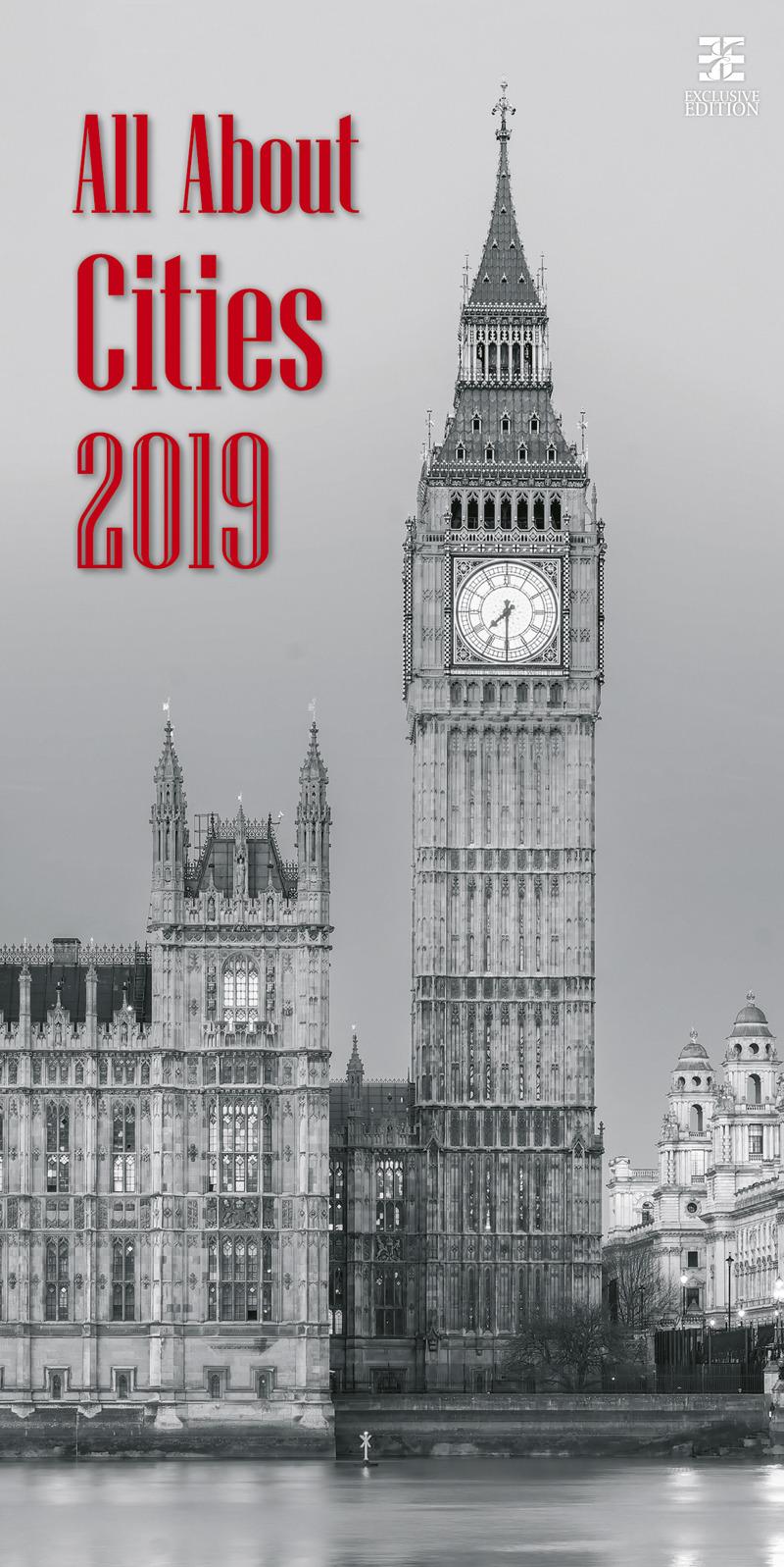 Календарь 2019. All About Cities / Всё о городах