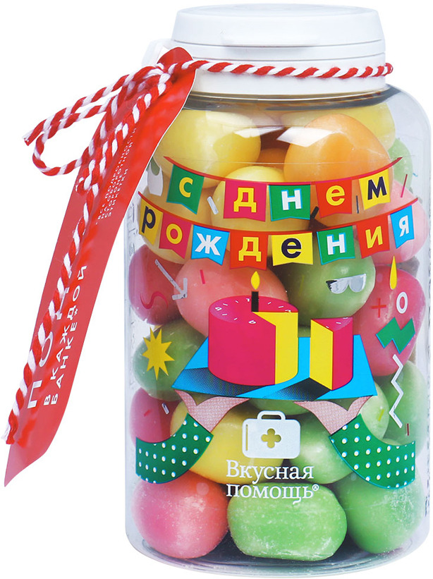 Конфеты Вкусная помощь На День рождения, 185 г