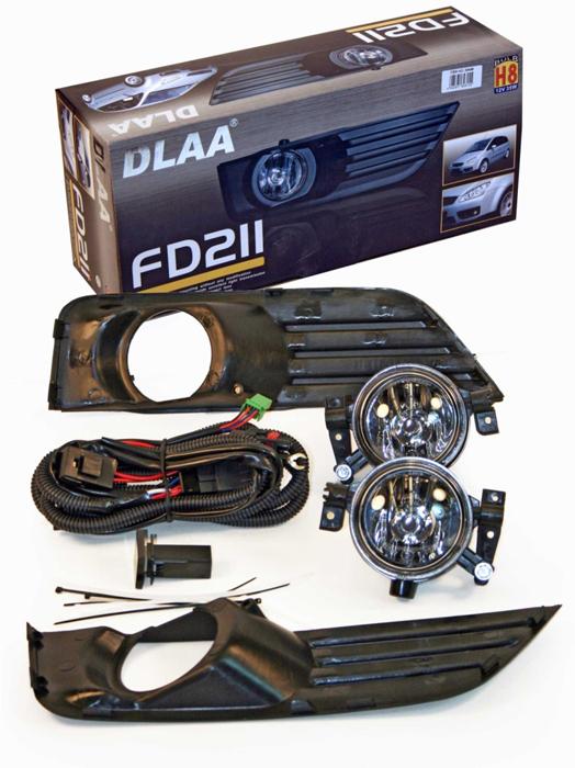 Фара противотуманная Dlaa FD-211 W, Ford Focus 2003-2006, H8 usb перезаряжаемый высокой яркости ударопрочный фонарик дальнего света конвой sos факел мощный самозащита 18650 батареи