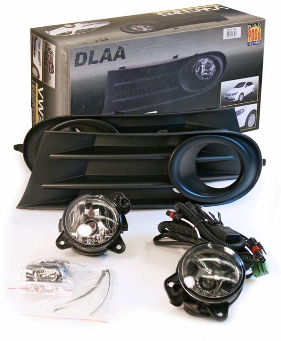 Фара противотуманная Dlaa VW-325B W, VolksWagen Golf 5 2008-, HB 9006, 12 V, 55 W оптика dlaa