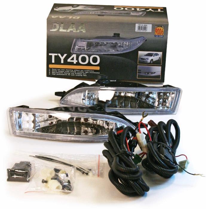 Фара противотуманная Dlaa TY-400 W, Toyota Corolla 2001-2004, HB 9006, 12V, 55 W usb перезаряжаемый высокой яркости ударопрочный фонарик дальнего света конвой sos факел мощный самозащита 18650 батареи