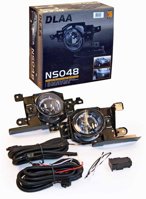Фара противотуманная Dlaa NS-048 W, Nissan X-Trail/Frontier 2005-2007, H11, оптика dlaa