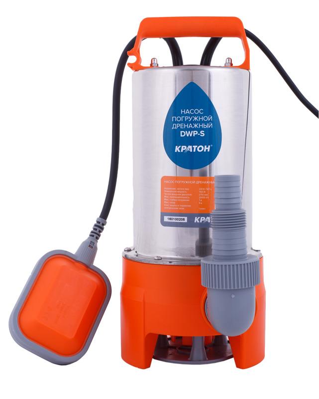 Насос погружной Кратон DWP-S, дренажный, для грязной воды