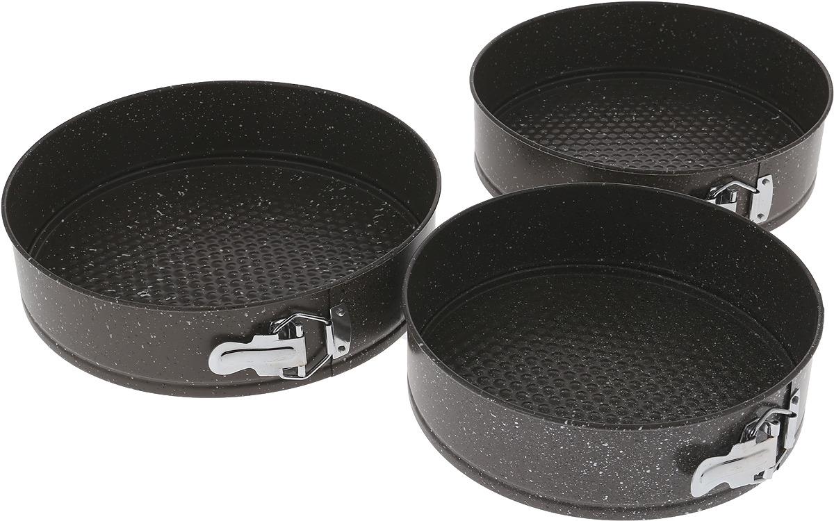 Набор форм для выпечки Zeidan Gravel, разъемные, цвет: серый, 3 предмета набор посуды zeidan z 50620