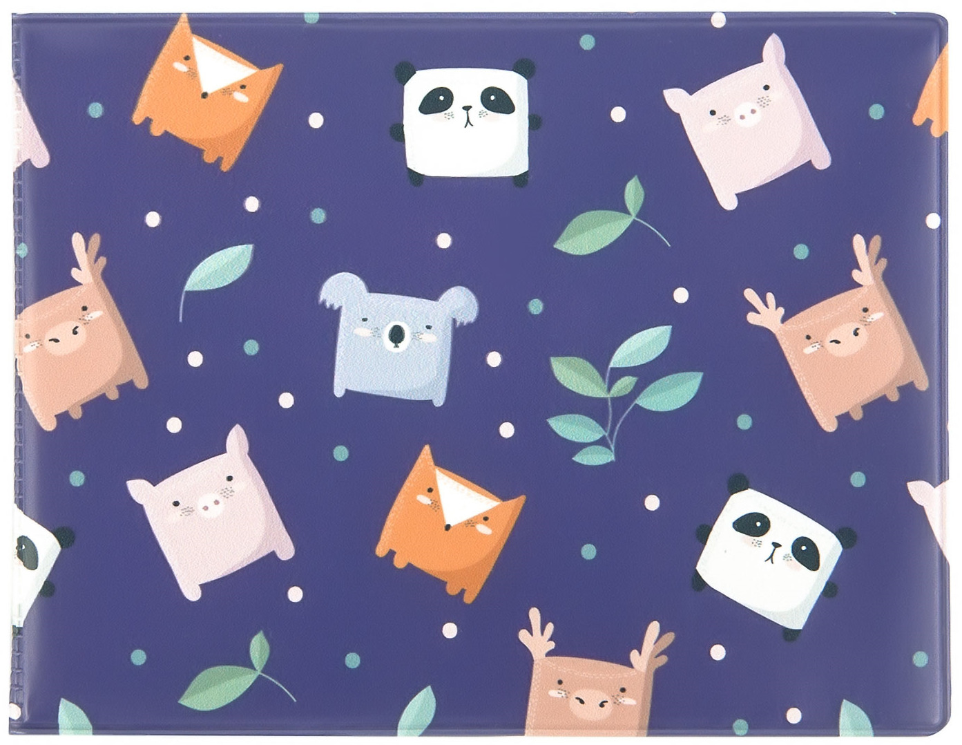 Обложка на студенческий билет Kawaii Factory Зверики, цвет: синий, оранжевый, серый. KW067-000139 обложка на студенческий билет kawaii factory мастер спорта по неадекватности цвет белый оранжевый kw067 000133