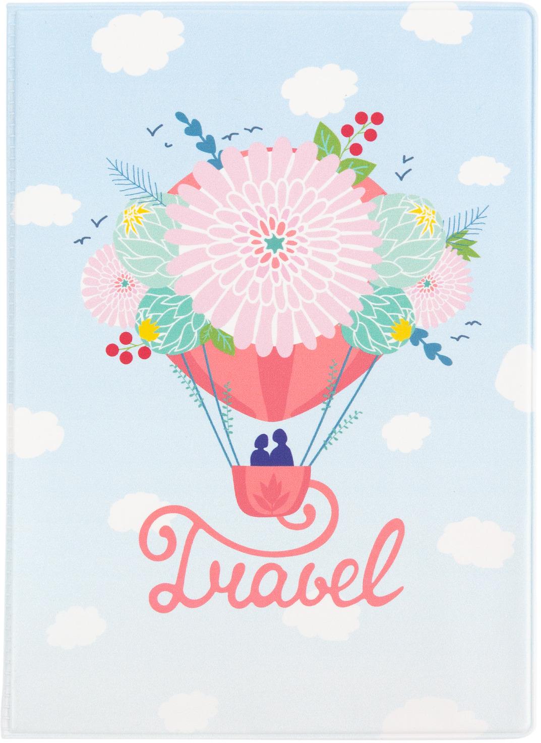 Обложка для паспорта Kawaii Factory Travel, цвет: зеленый, розовый, голубой. KW064-000370 обложка для автодокументов kawaii factory инструкция летчику цвет зеленый kw063 000022