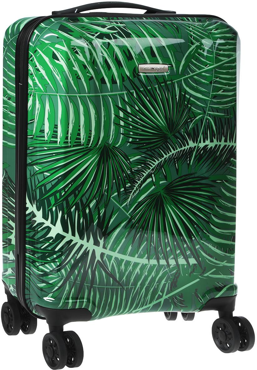 Чемодан-тележка Cavalet, цвет: темно-зеленый, 33 л eloy eloy power