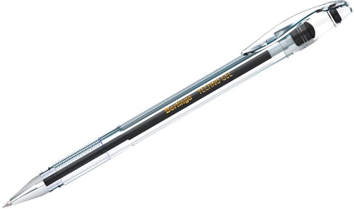 Набор гелевых ручек Berlingo Techno-Gel, цвет чернил: черный, 12 шт ручка berlingo techno gel grip гелевая черная 0 5мм