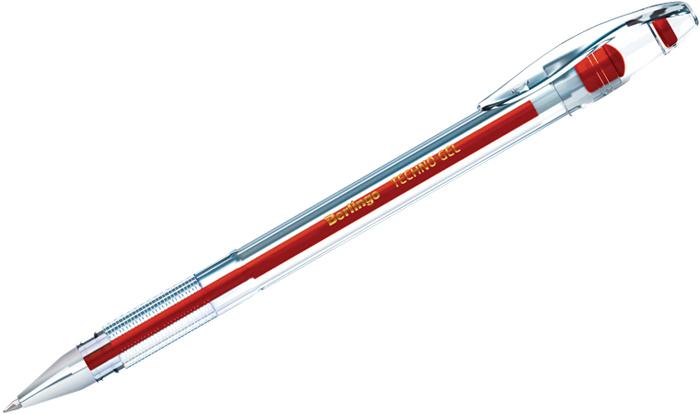 Набор гелевых ручек Berlingo Techno-Gel, цвет чернил: красный, 12 шт ручка berlingo techno gel grip гелевая черная 0 5мм