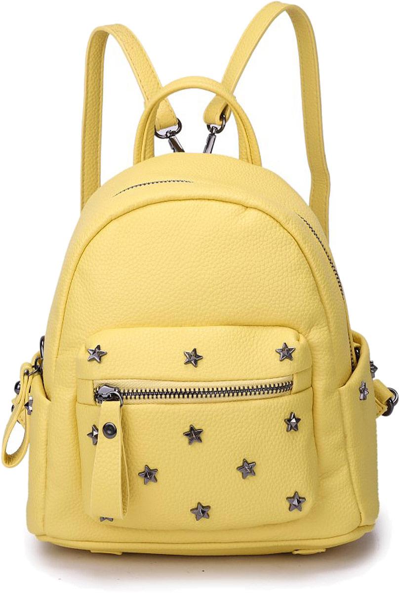 Рюкзак женский OrsOro, цвет: желтый. DW-825/2 цены