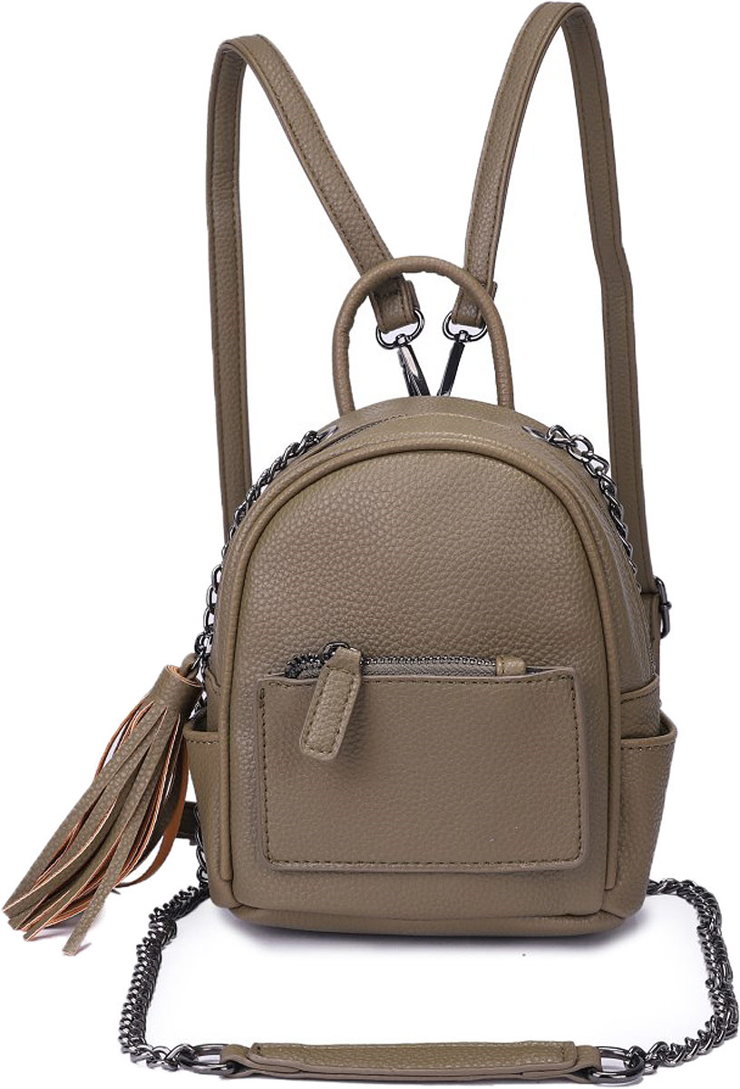 Рюкзак женский OrsOro, цвет: оливковый. DW-826/2 рюкзак женский orsoro цвет оливковый dw 830 2