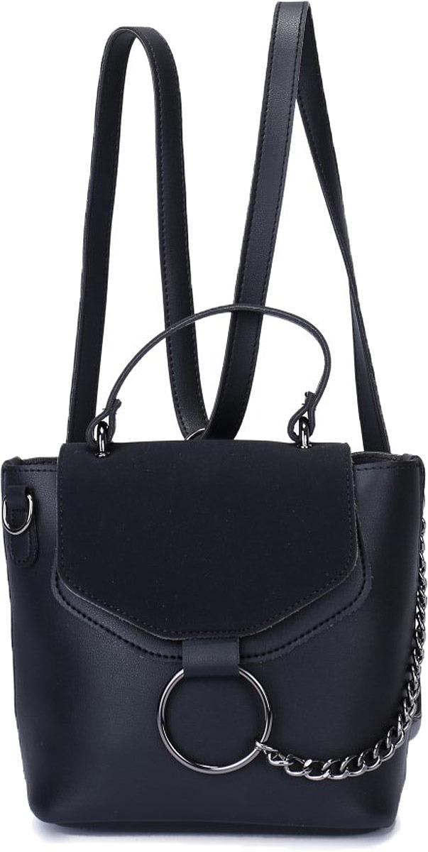 Рюкзак женский OrsOro, цвет: черный. DW-828/1 baifeng baifeng плечо сумка стиль элегантный серии корейский случайный свет мини чистый цвет нейлон гарнитура отверстие рюкзак женский черный