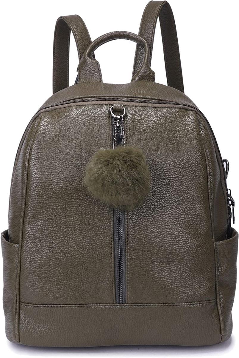 Рюкзак женский OrsOro, цвет: оливковый. DW-837/2 рюкзак женский orsoro цвет оливковый dw 830 2