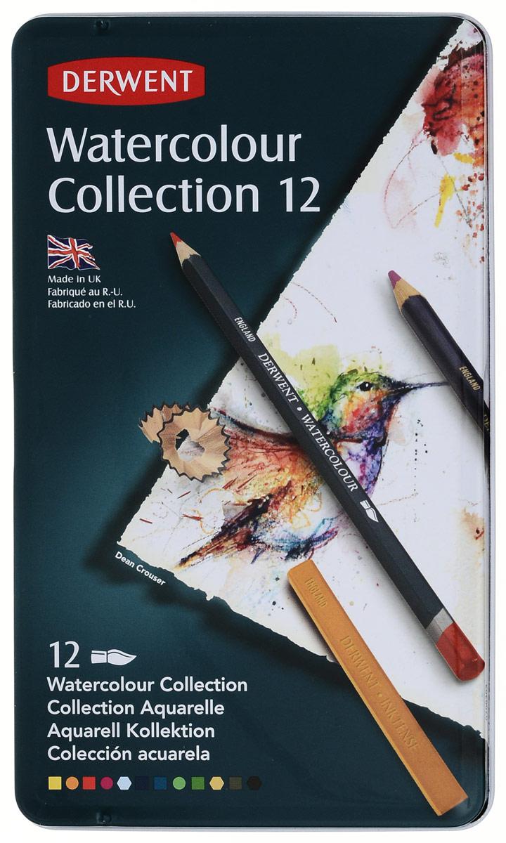 Derwent Набор карандашей Watercolour Collection 12 цветов derwent набор карандашей procolour 24 цвета