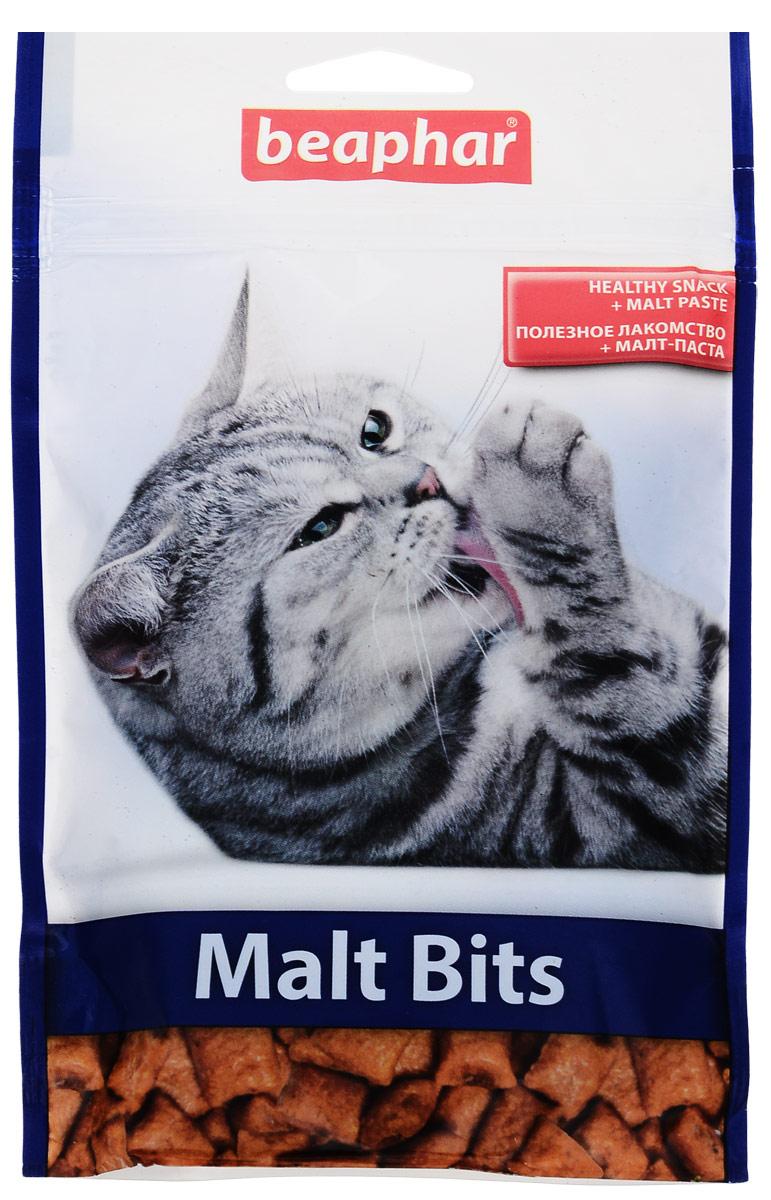 Подушечки для кошек с мальт-пастой Beaphar Malt-Bits, 150 г, 300 шт лакомство от волосяных комочков для хорьков beaphar ferret bits