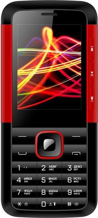 Мобильный телефон Vertex D532, черный, красный сотовый телефон vertex impress tor black orange