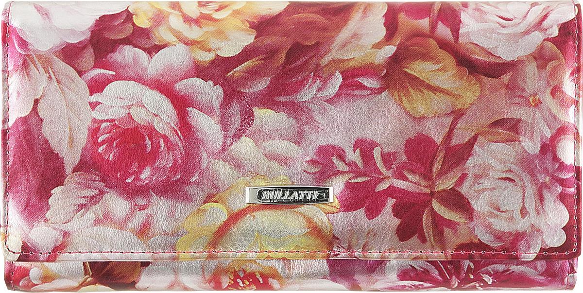 Кошелек женский Bullatti, цвет: розовый. 2536L-F66 кошелек женский bullatti цвет розовый 2536l f66