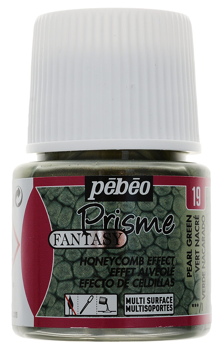 Pebeo Краска Fantasy Prisme с фактурным эффектом цвет 166019 зеленый с перламутром 45 мл