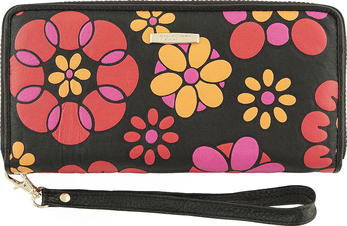 Кошелек женский Bullatti, цвет: черный. 2480L-F89 кошелек женский bullatti цвет розовый 2536l f66
