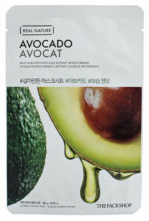 The Face Shop Тканевая маска для лица авокадо REAL NATURE , 20 г
