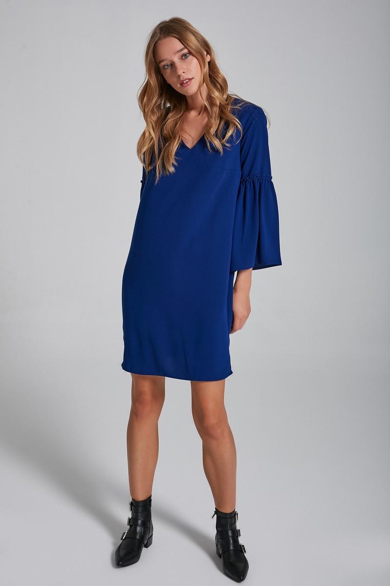 Платье adL блузка свободного покроя бойфренд с v образный вырезом рисунком и рукавами 3 4