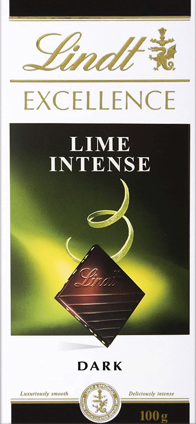 Lindt Excellence темный шоколад с лаймом, 100 г цена