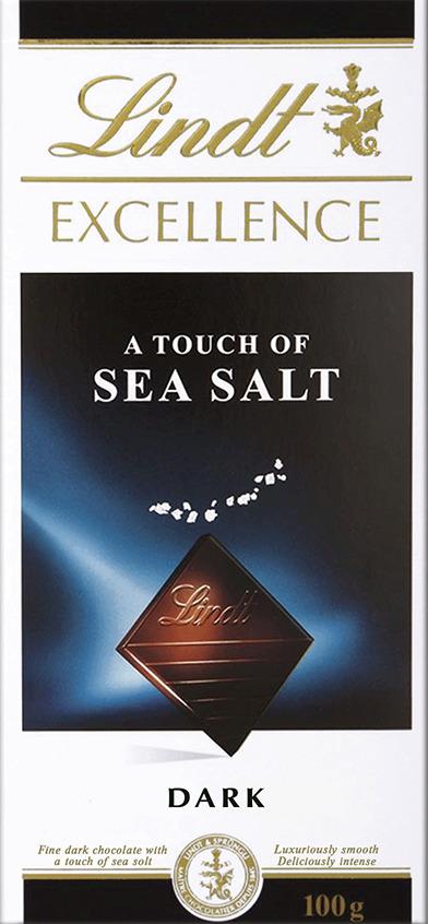 Lindt Excellence темный шоколад с морской солью, 100 г lindt excellence темный шоколад со вкусом мяты 100 г