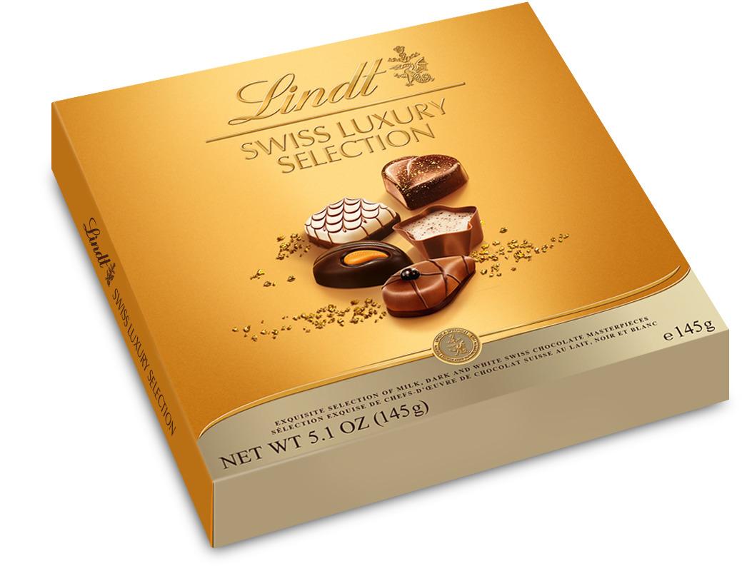 Lindt Swiss Luxury Selection Швейцарская роскошь пралине, 145 г шоколад молочный lindt creation пралине с вафлей 150 г