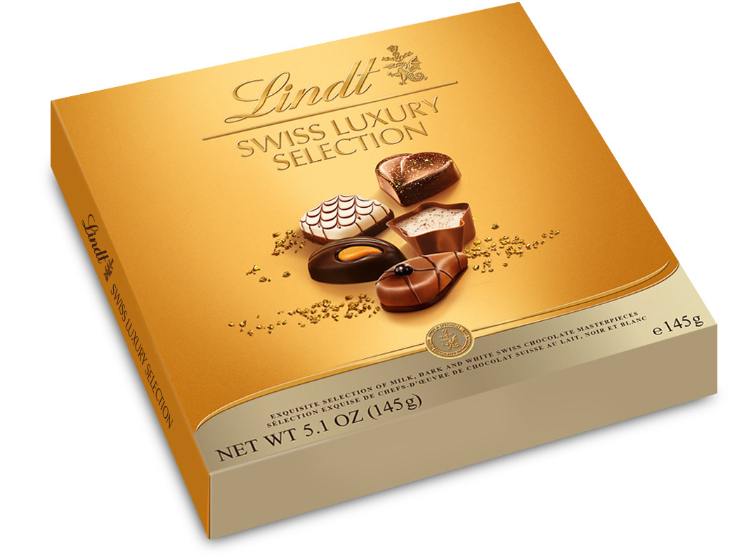 Lindt Swiss Luxury Selection Швейцарская роскошь пралине, 145 г