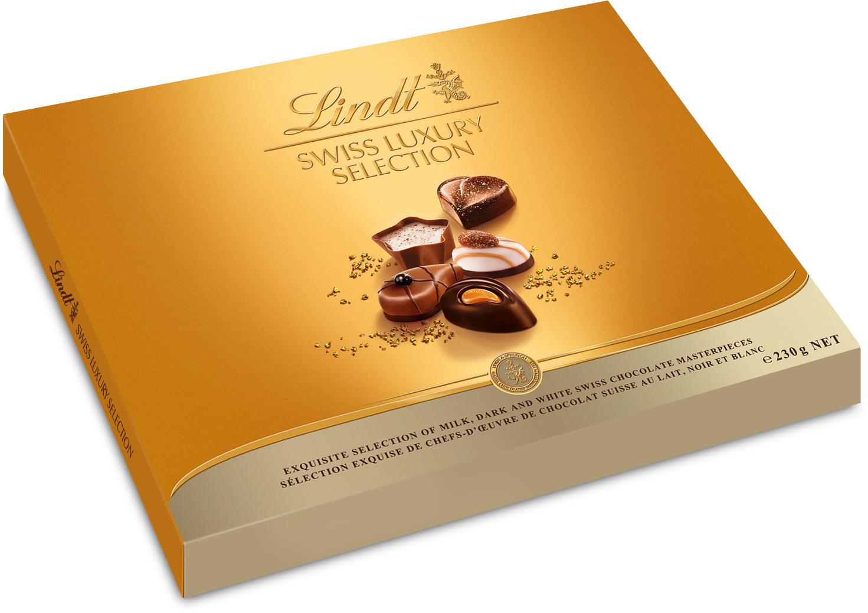 Lindt Swiss Luxury Selection Швейцарская роскошь пралине, 230 г