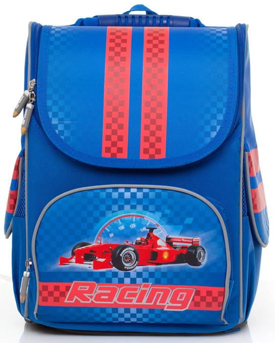 Ранец школьный BG Compact Racing, 34 х 25 х 17 см. SBC 2728 автокресло britax roemer kidfix sl sict black series blue marble trendline 2000029688