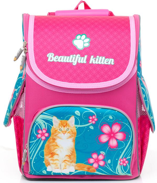 Ранец школьный BG Compact Beautiful Kitten, 34 х 25 х 17 см. SBC 2758