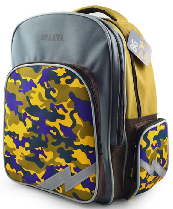 Ранец школьный BG Scout SPARTA, 38 х 34 х 21 см. SBS 4280 цена и фото