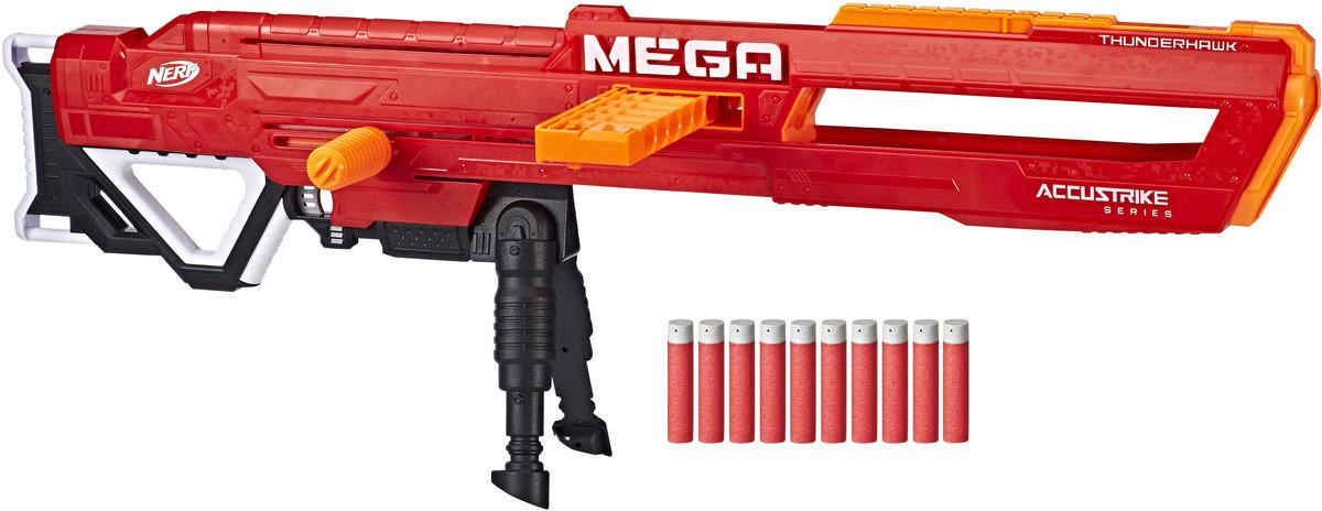 Игрушка-бластер Nerf Мега Фандерхок бластер мега нерф твиншок nerf