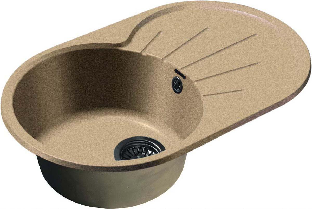 Мойка GranFest Rondo, GF-R-750L, песочный мойка granfest rondo gf r 50 см цвет чёрный