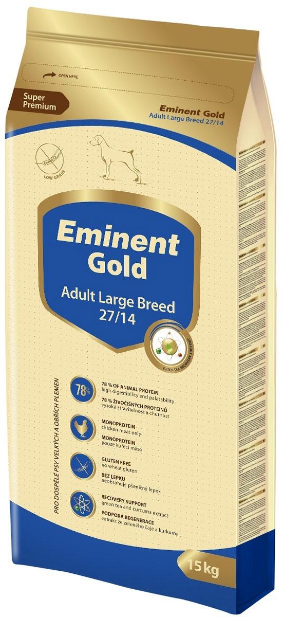 """Корм сухой Eminent Gold """"Эдалт Лардж Брид"""", для крупных пород собак, 15 кг"""