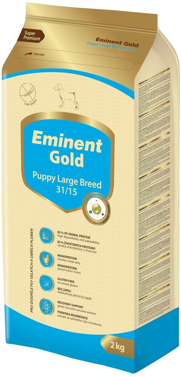"""Корм сухой Eminent Gold """"Паппи Лардж Брид"""", для щенков крупных пород, 2 кг"""