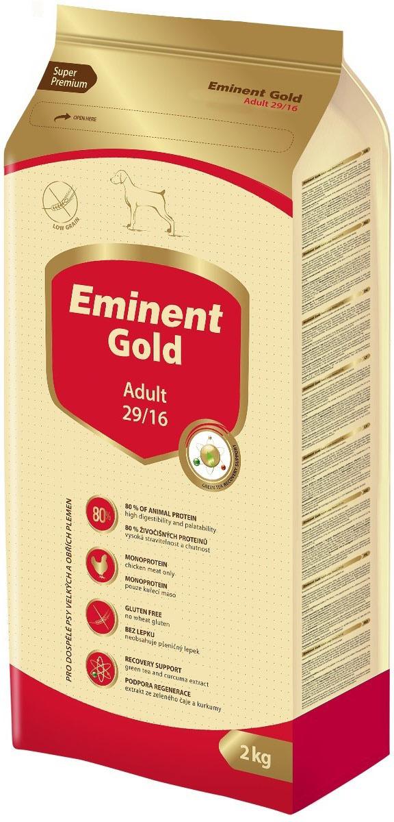 """Корм сухой Eminent Gold """"Эдалт"""", для средних пород, 2 кг"""