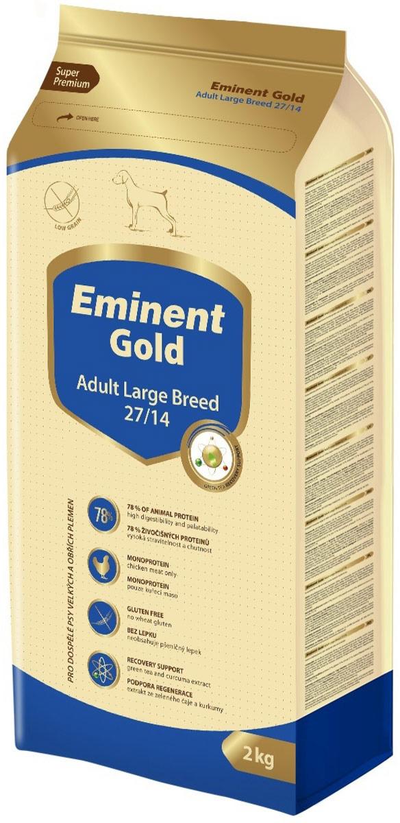"""Корм сухой Eminent Gold """"Эдалт Лардж Брид"""", для крупных пород собак, 2 кг"""