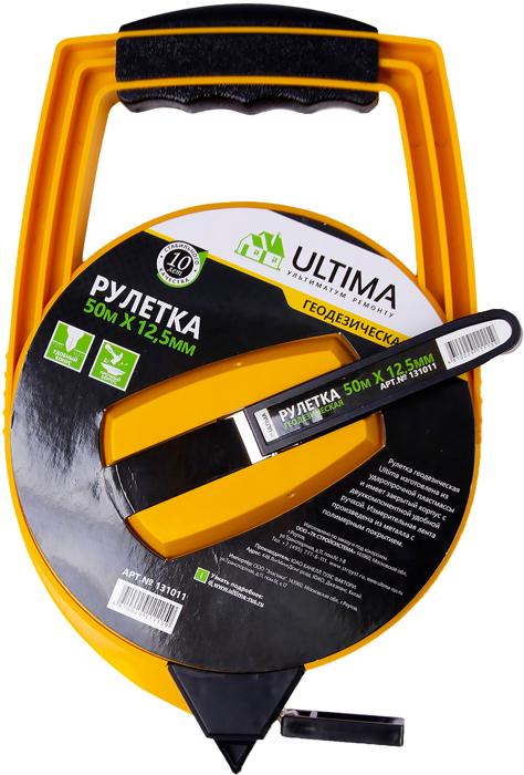 Рулетка геодезическая Ultima, металлическая лента, закрытый корпус, 50 м х 12,5 мм