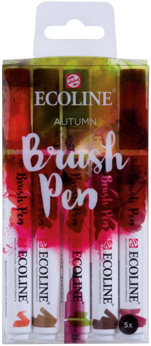 Набор маркеров Royal Talens Ecoline, осенние цвета, 5 шт