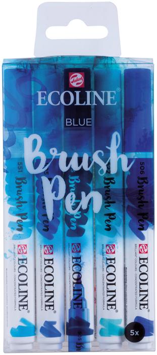 Набор маркеров Royal Talens Ecoline, синие цвета, 5 шт