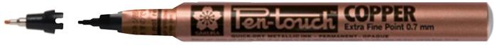Маркер Sakura Pen-Touch, тонкий стержень 0.7 мм, цвет: медный