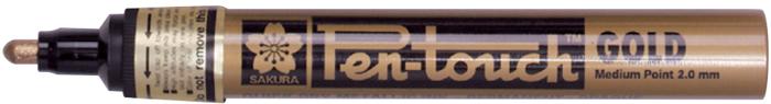 Маркер Sakura Pen-Touch, толстый стержень 2.0 мм, цвет: золотой