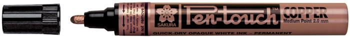 Маркер Sakura Pen-Touch, толстый стержень 2.0 мм, цвет: медный