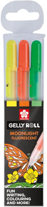 Набор гелевых ручек Sakura Moonlight. Конфеты, цвет чернил: желтый, оранжевый, зеленый, 3 шт набор банок для пищевых продуктов цвет зеленый оранжевый бордовый 3 шт