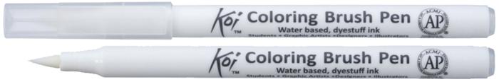 Маркер акварельный Sakura Koi, цвет: №00 блендерXBR#00Акварельные маркеры-кисти Koi являются прекрасной альтернативой классическим акварельным краскам и кистям. Чернила на водной основе, без запаха, хорошо смешиваются между собой, образуя новые оттенки. При использовании блендера можно добиться плавного перехода цвета и создать идеальный градиент. В зависимости от нажима на гибкую нейлоновую кисточку можно нарисовать тонкие, средние или широкие линии. Наконечник очень прочный и упругий, поэтому быстро возвращается к изначальной форме. Все маркеры Koi имеют маркировку AP (Approved Product) института ACMI, что означает отсутствие в составе чернил вредных веществ.