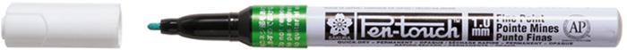 Маркер Sakura Pen-Touch, тонкий стержень 1.00 мм, цвет: зеленыйXPMKA#29Маркеры Pen-Touch - это идеальные инструменты для творчества. Маркеры содержат архивные чернила на спиртовой основе - химически стабильные, водостойкие, светостойкие. После легкого встряхивания чернила немедленно подходят к наконечнику стержня. Плотные и укрывистые чернила этих маркеров ложатся на любую поверхность - стекло, дерево, фарфор, пластмасса, бумага и металл. Маркеры Pen-Touch прекрасно подойдут для создания поздравительных открыток и приглашений, украшения подарочной упаковки, декора компакт-дисков, визитных карточек.