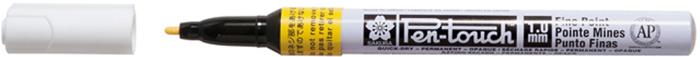 Маркер Sakura Pen-Touch, тонкий стержень 1.00 мм, цвет: желтый